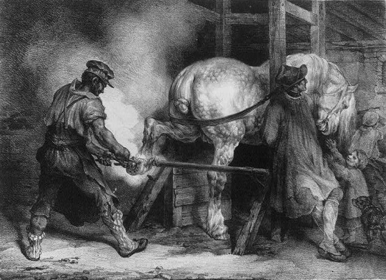 Maréchal-ferrant à la Verrerie du Gast